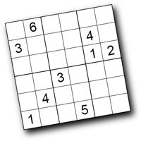 Here's a site with a printable Sudoku puzzles that are scaled down for kids.