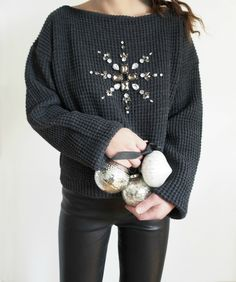 DIY-Mandala-Embellished-Holiday-Sweater-Refashion