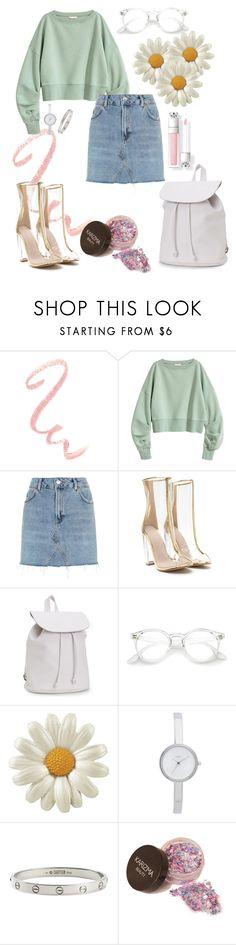 """""""Daisy"""" by saraprifti ❤ liked on Polyvore featuring Topshop, Aéropostale, DKNY and Cartier"""