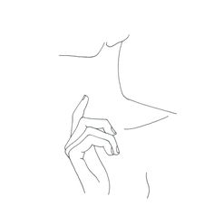 Minimal line drawing - hand and neckline @thecolourstudy - By TheColourStudy
