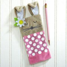 Zippered Felt Bunny Pencil Case $8.00
