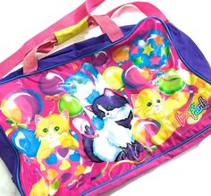 VTG LISA FRANK CAT BAG ❤︎ RARE RAINBOW BALLOON KITTENS ❤︎ BIG GYM KAWAII 90s 80s #LisaFrank #GymSchoolTravel