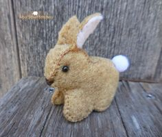 SOLD. Felt rabbit by WoolStreetStitchery on Etsy