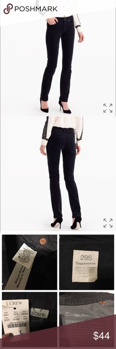 """J. Crew Vintage matchstick skinny leg corduroys Brand new with tags J. Crew vintage matchstick cords. All tags attached. Sits above hip. Fitted through hip and thigh, with a straight leg. 31"""" inseam. J. Crew Pants"""