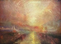 A sail boat approaches the Arts - WIlliam Turner