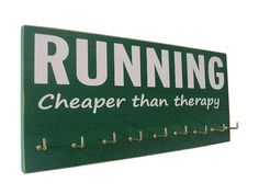 race medal holder inspirational quote by runningonthewall on Etsy, $28.00