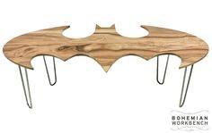 Batman Coffee Table...I just showed this to my husband and he says 'F#&@ yeah! That's the best coffee table ever!!'