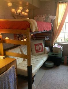 This theme for my room only with blue and purple. A futon under one bunk, one desk under the other and one desk next to the bunk with the futon with lights hanging bordering the ceiling and a window with cute drapes and a rug and mini t.v. To watch netflix. Ultimate Wish list