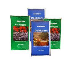 Dekkbark og plantejord - Plukk og miks 4 sekker