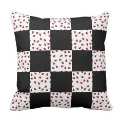 Ladybug Pillow with personalization - great gift! Red Birthday Party, Decorative Throw Pillows, Ladybug, Great Gifts, Quilts, Blanket, Pillows, Accent Pillows, Lady Bug