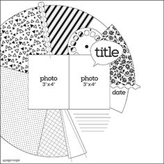 Great sketch to use with a Silhouette Cameo cut or use 6x6 paper pads - August 2014 PageMaps
