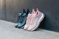 Nike Women Air Max 97 Ultra 'Rose Gold' & 'Black/White' now available. Air Max 97, Nike Air Max, Converse, Vans, New Balance, Air Max Sneakers, Shoes Sneakers, Reebok, Walk In My Shoes
