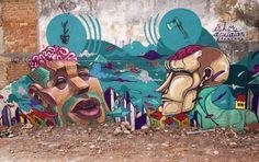 Pintura feita na Aclimação, com o grafiteiro equatoriano Apitatan, durante a passagem dele aqui em Sampa.
