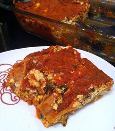 Skinny Vegan Lasagna for one and all.