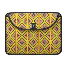 Geometric Aztec Tribal Pattern Sleeves For MacBook Pro