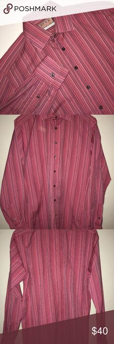 "THOMAS PINK Men's 15 1/2 Prestige Shirt Pink THOMAS PINK Men's 15 1/2 Prestige Shirt Pink Striped French Cuffs  Actual Measurements  Neck 15""  Arm length 27""  Chest 40""  Length 30""  100% Cotton Thomas Pink Shirts Dress Shirts"