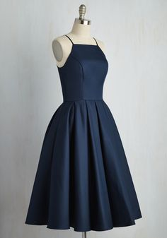 Beloved and Beyond Midi Dress in Navy. In this gorgeous navy fit and flare by Chi Chi London, you prove that the most magnificent statement is sticking to the sweetest classics. #blue #wedding #bridesmaid #prom #modcloth
