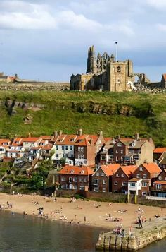 ~Whitby, England~ Love to go see my girlfriend Susie when I am there....what a beautiful little town!