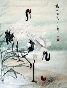 Chinese Crane Painting,50cm x 65cm,4700005-x