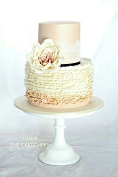 I would love to try this with piped buttercream ruffles.