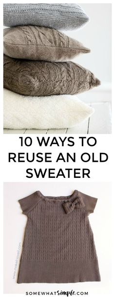 10 Favorite Ugly Christmas Sweater Ideas | Before you toss your old, unwanted sweaters, think again. Here are 10 Not So Ugly Christmas Sweater Ideas that will turn even the ugliest of sweaters into something cute and functional!
