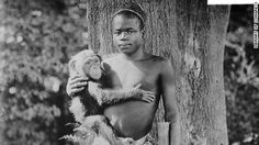 When the Bronx Zoo exhibited a man in an iron cage - Ota Benga in an undated Library of Congress pho