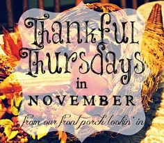 from our front porch lookin' in... (week 2) a list of facebook posts--thankful for voting!!