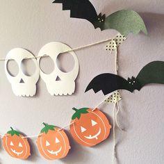 Condesa Patitiesa: Guirnaldas DIY para Halloween / Halloween freebies GARLANDS