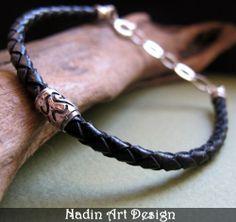 Einstellbares geflochtenes Armband für Männer von NadinArtDesign auf DaWanda.com