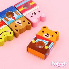 Kawaii Animal Fruit Eraser Stationary Items, Cute Stationary, Kawaii Shop, Kawaii Cute, Kawaii Stationery, Kids Stationery, Eraser Collection, Free School Supplies, Kids Makeup