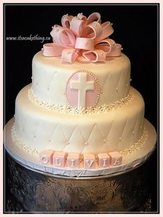 Like the soft pink and the design, maybe make a sheet cake like this with similar design