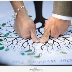 Have everyone make a thumb print on a family tree canvas..make the most of those rare occasions where all the family is together! Plus you can hang this in your home after the wedding <3