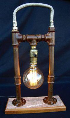 LAMPE STYLE INDUSTRIEL VINTAGE STEAMPUNK : LA CLOCHE