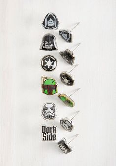 You're ready for your close-up with the familiar cast of characters found in this earring collection. With six pairs of recognizable villains to choose from, this geek-chic variety invites you to mix and match combinations to set your ensemble into full-force fashionableness!
