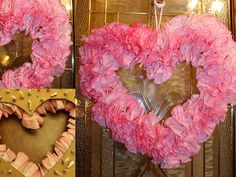 Soccer Mom Style: DIY: Heart Shaped Valentine's Wreath with Coffee Filters