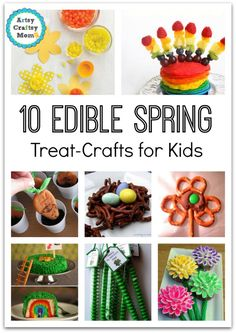 10 Edible Spring Treat Crafts for Kids + These great and fun kids recipes will let them create some yummy treats with no, ... time holidays with some fun Edible Spring Crafts