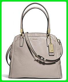 Coach Madison Leather Minetta Satchel Grey Quartz - Top handle bags (*Amazon Partner-Link)