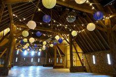 Stonehill House Paper Lanterns Festoon Lights, Canopy Lights, Ceiling Lights, Barn Wedding Lighting, Paper Lanterns, Ink Art, Fairy Lights, Vintage Looks, Chandelier