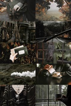 autumn in slytherin Autumn Aesthetic, Witch Aesthetic, Aesthetic Collage, Slytherin Aesthetic, Harry Potter Aesthetic, Autumn Inspiration, Color Inspiration, Autumn Cozy, Harry Potter Wallpaper