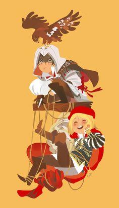 Leonardo and Ezio; adorable ^^