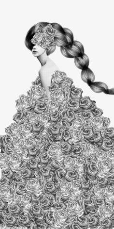 Rose # 1 by Jenny Liz Rome #collage