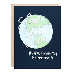 Feel Better Soon Sympathy Greeting Card Sympathy Greetings, See You Around, Envelope Sizes, Love Your Hair, Paper Envelopes, Anniversary Cards, Feel Better, Paper Cutting, Hand Lettering