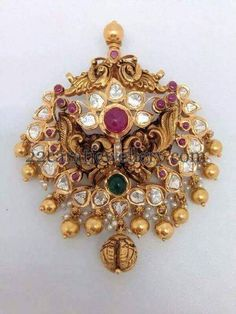 Jewellery Designs: Broad Antique Trendy Style Pendant
