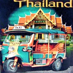 """""""Poster"""" Tuk Tuk, Thailand. Tuk Tuk's are used for many reasons, as a taxi, delivery vehicle, hotel guest transport, golf buggy, in exhibitions and much more. More info about Thailand at: http://islandinfokohsamui.com"""