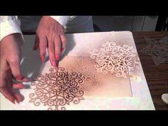▶ Мастер-класс- Скрапбукинг и 3D картинки , чернила спрей - YouTube