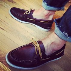 The preppy look is always in, and nothing says it better than some leather topsiders.