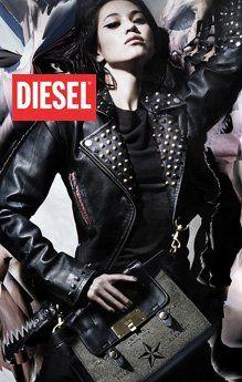 Diesel - neue Kollektion und Sale online bei OCCOE Diesel Damen Lederjacke Spike in schwarz https://occoe.de/Nach-Marke/Diesel/