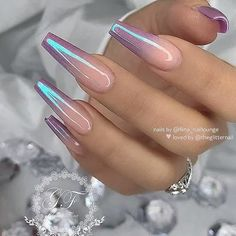 Spring Nails Spring Nails Nail art Nail ideas Nails Nails 2020 Nails 2020 dip Nails 2020 gel Nails acrylic Nails coffin Nails colors Nails designs pink Gel coffin nails long, natural gel nails design, gel na Gorgeous Nails, Pretty Nails, Spring Nails, Summer Nails, Summer Nail Polish, Glitter Nail Polish, Pink Gel, Purple Ombre Nails, Purple Chrome Nails