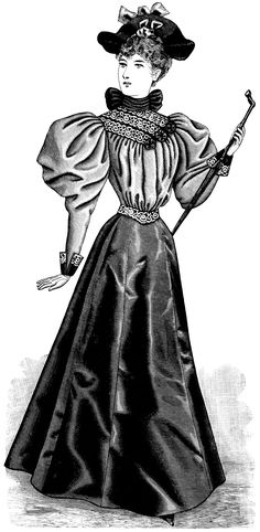 Old Design Shop ~ free digital image: Victorian fashion 1895