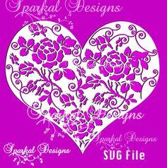 Valentines HEART SVG Cut File Valentine by SparkalDigitalDesign #ValentineSVG #HeartSVGFile #SVGCuttingFile